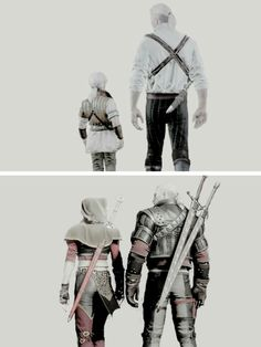 geralt and ciri | yocalio.tumblr.com