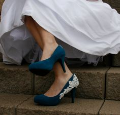 Blue Wedding Heel