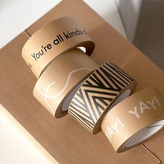 Mix & Match eco-friendly packaging tape , Shop all - twin pines creative Kraft Box Packaging, Paper Packaging, Bag Packaging, Packaging Design, Eco Friendly Paper, Paper Tape, Craft Box, Kraft Paper, Layout