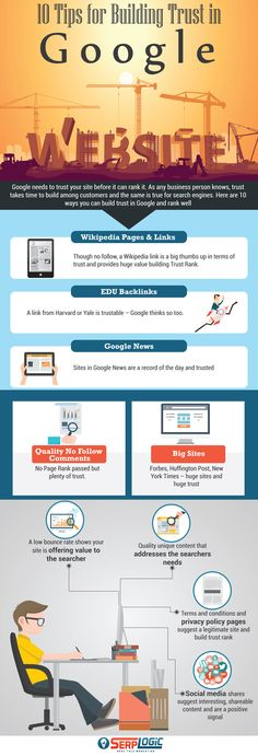 10 tips for building trust in Google #Infographic #Web #Website #Google