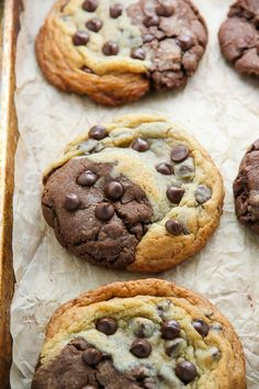 "Chocolate Chip Brownie Swirl Cookies are sensational. Say hello to the ""brookie."""