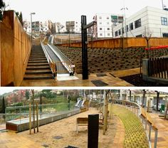 El par de escaleras mecánicas del barrio de la Guinardera facilita un ascenso de dieciocho metros.