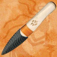 Native Indian Buffalo Rib Obsidian Blade Knife by Artisan, http://www.amazon.com/dp/B00CLZVOKM/ref=cm_sw_r_pi_dp_dRklsb1ZX985J