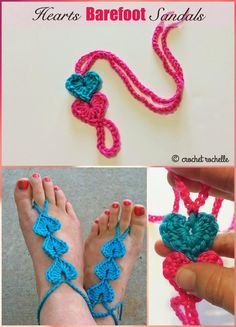 Crochet Barefoot Sandals - 50+ Free Crochet Patterns - Page 4 of 10 - DIY & Crafts