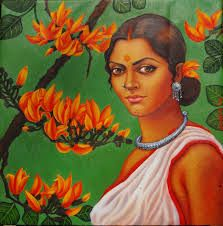 Buy Fire of forest painting online - the original artwork by artist Suparna Dey, exclusively available at Mojarto only. Check price, images and description online. Indian Artwork, Indian Folk Art, Indian Art Paintings, Indian Artist, Contemporary Paintings, Canvas Paintings, Sell Paintings Online, Selling Paintings, Online Painting