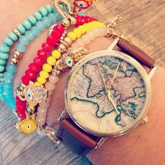 The Around the World Leather Watch. #urbanoutfitters