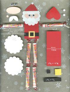 Skinny Santa Candy Favors Tutorial