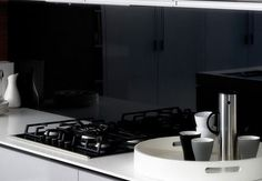 Laminex Metaline Black Ice Splashback
