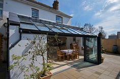 Lean to Orangery Extension Orangerie Extension, Extension Veranda, Glass Extension, Extension Ideas, Style At Home, Lean To, House Extensions, Kitchen Extensions, Glass Roof
