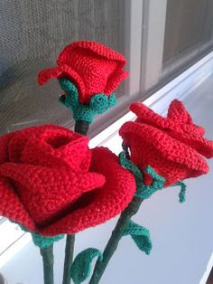 Horgolt holmik boltja: Vörös Rózsák