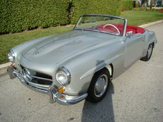 1961 Mercedes Benz 190SL Silver Red DB180 New Interior