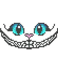 Zeichnungen Einfach: Stickaz - Cat with big blue eyes & happy smile minecraft pixel art grid maker a. Pixel Art Joker, Pixel Art Anime, Cross Stitching, Cross Stitch Embroidery, Cross Stitch Patterns, Minecraft Pixel Art, Disney Minecraft, Perler Bead Art, Perler Beads