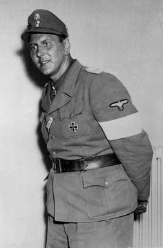 Lieutenant Colonel-SS Otto Skorzeny, famous commando, two days after he surrendered May 16, 1945 near Salzburg, Austria, to troops of the US 3rd Infantry Division.