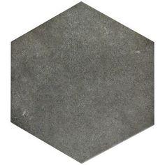 "EliteTile Annata 8.63"" x 9.88"" Hex Porcelain Field Tile in Grey"