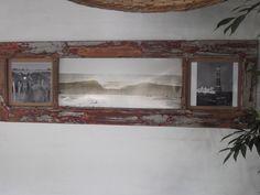 Marco para fotos con puerta antigua reciclada.