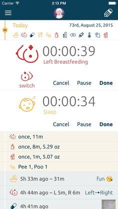 Easiest nursing, breastfeeding app in the world. BabyLine - Nursing, Breastfeeding, Timer & Activities Tracker