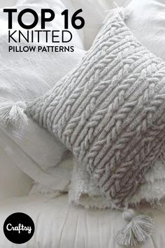 Nothing is more cozy than a knitted pillow. Cozy up with your needles and yarn and knit your own.
