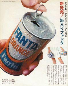 コカ・コーラ Coca-Cola 缶入りファンタ 新発売 広告 1968 Vintage Labels, Vintage Ads, Vintage Prints, Vintage Posters, Retro Advertising, Retro Ads, Vintage Advertisements, Cute Japanese, Vintage Japanese