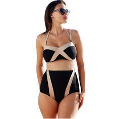 $19.99 (Buy here: https://alitems.com/g/1e8d114494ebda23ff8b16525dc3e8/?i=5&ulp=https%3A%2F%2Fwww.aliexpress.com%2Fitem%2FCfanny-2016-New-Women-Swimwear-Black-Bronze-Twisty-Bikini-Plus-Size-4XL-Summer-Swimsuit-with-Strappy%2F32717938925.html ) Cfanny 2016 New Women Swimwear Black Bronze Twisty Bikini Plus Size 4XL Summer Swimsuit with Strappy High Waisted Bathing Suits for just $19.99