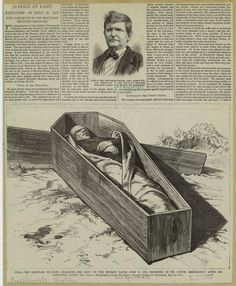 """# Execução de """"John D. Lee""""(1877) por paticipação no """"Massacre da Montanha Meadow"""" em 1857. Utah, USA. ('The Mountain Meadows massacre')."""