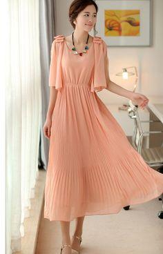 Vestidos largos moda coreana