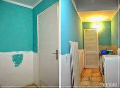 El antes y después de un cuarto de lavadora