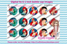 1' Bottle caps (4x6) Digital ariel K230   PLEASE VISIT http://craftinheavenboutique.com/AND USE COUPON CODE thankyou25 FOR 25% OFF YOUR FIRST ORDER OVER $10! #bottlecap #BCI #shrinkydinkimages #bowcenters #hairbows #bowmaking #ironon #printables #printyourself #digitaltransfer #doityourself #transfer #ribbongraphics #ribbon #shirtprint #tshirt #digitalart #diy #digital #graphicdesign please purchase via link http://craftinheavenboutique.com