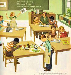 "vintage School pictures | Vintage Children's School Book Illustration ""Stories about Linda ..."