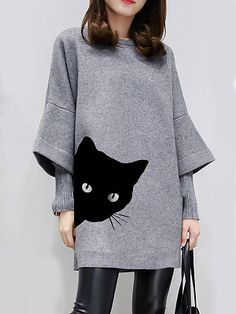 Round Neck Patchwork Animal Printed Shift Dress , formal dresses maxi dresses womens dresses summer dresses party dresses long dresses casual dresses dresses for wedding , # Long Sleeve Work Dress, Dress Long, Casual Dresses, Dresses For Work, Fashion Dresses, Shift Dresses, Modest Dresses, Cheap Dresses, Mini Dresses