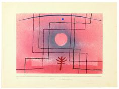 Paul Klee: Nach Regeln zu pflanzen,(Palnting According to the Rules0 1935. Aquarell, teilweise gespritzt,(Watercolor,partially injected) auf Papier auf Karton(on paper on cardboard), 25,8 x 36,9 cm