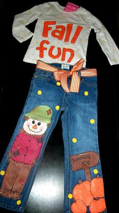 Custom Boutique FALL FUN PUMPKIN Scarecrow by dashydesigns on Etsy, $48.00