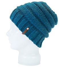 Contrasted patterns and a custom hand knit help to make this over-sized  slouch beanie a87a5ed0e9ae