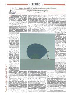 """«Un libro icastico e amicale, danzante e necessario», Giorgio Biferali sul nostro """"Una profonda invidia per la musica"""" per «L'Indice dei Libri del Mese», 15 Ottobre."""