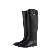 >> Click to Buy << Knee High Boots For Women Fashion Motorcycle Rubber Rain Boots Buckle Ladies Water Shoes galochas femininas de chuva #Affiliate