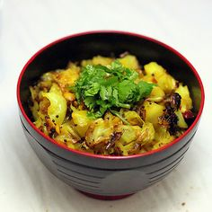 Patta Gobi Subzi- Cabbage stir fried with indian spices. Few ingredients. #vegan #glutenfree