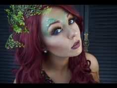Poison Ivy Halloween Makeup Tutorial | w/ Morphe 35O Palette - YouTube