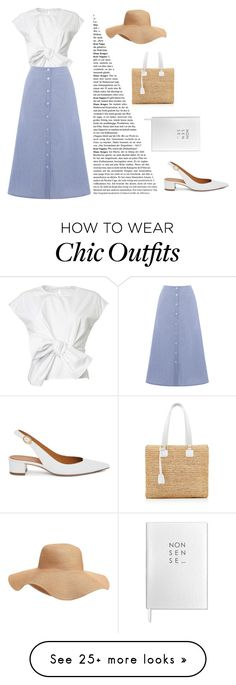 """""""summer look"""" by liipa on Polyvore featuring Warehouse, Mansur Gavriel, Mark Cross, Old Navy and Sloane Stationery"""