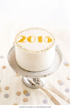 DIY Sprinkle New Years Eve Cake | by Carrie Sellman for TheCakeBlog.com