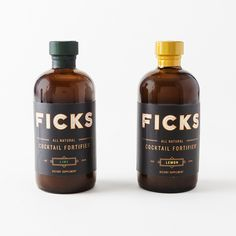 Ficks Hangover Preventative Cocktail Fortifier - Set of 2 | Brit + Co. Shop | DIY Online classes, DIY kits and creative products from makers you'll love.