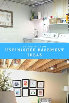 23 Unfinished Basement Ideas to Increase Your Home Value – Basement İdeas 2020 Unfinished Basement Playroom, Rustic Basement, Basement House, Unfinished Basements, Basement Remodel Diy, Basement Makeover, Basement Renovations, Basement Ideas, Open Shelving Units