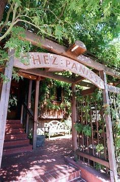 Chez Panisse in Berkley, CA. Where Alice Waters invented Cali Cuisine. One of the top 100 Restaurants in the world and the freshest, most seasonal fare.