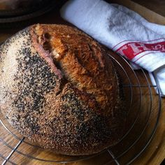 A delicious, cold proved wholemeal sourdough bread that requires very little effort.