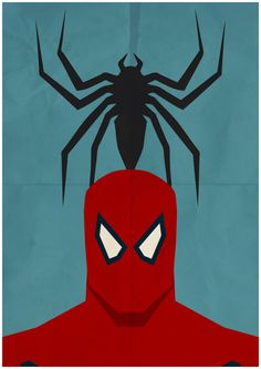 Spiderman - Minimalist Retro Poster, Movie Poster, Art Print    Poster Size: 11.7 inches X 16.5 inches    Printed on high quality, A3 220gm Textured