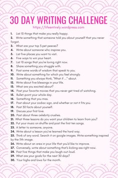 30 Day Writing Day Writing Challenge - Life, EntirelyHow To Journal To Inspire Self-Discovery - The Sunny Side Lifestyle Journaling prompts to promote self discovery. Memoir Writing, Journal Writing Prompts, Writing Tips, 4th Grade Writing Prompts, Journal Prompts For Teens, Poetry Prompts, Middle School Writing, Creative Writing Prompts, Writing Poetry