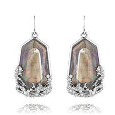 Ocean Lace Statement Earrings $42.  Shop online at https://www.chloeandisabel.com/boutique/rachaelgriffith#22430