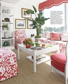 Island Ikat seating. Design by T Keller Donovan. Image courtesy of House Beautiful.