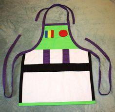 Buzz Lightyear Apron Costume by runningoutamoonlight on Etsy Disney Princess Aprons, Disney Aprons, Disney Dress Up, Princess Dress Up, Princess Sofia, Dress Up Aprons, Cute Aprons, Dress Up Outfits, Dress Up Costumes
