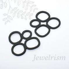 PD557B // Black Coated PendantMatt 2 Pc by JewelrismINT on Etsy