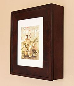 Wall picture frame medicine cabinet
