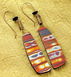 Serengeti earrings polymer clay | by Stories They Tell
